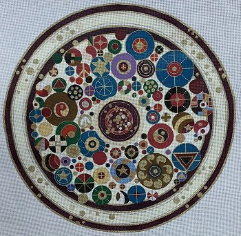 JGN064 LARGE ROUND COINS CHALLAH COVER by Janice GaynorI