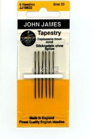 JOHN JAMES TAPESTRY NEEDLES  CHOOSE YOUR SIZE-JJATAPNEED