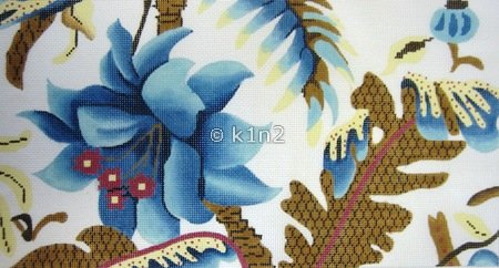 Large Blue Floral by Just Once Designs-JOD157