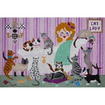 JPA451-CAT MOM by JP NEEDLEPOINT