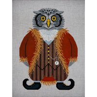 JPB232-HYSTERICAL HISTORICAL HOOTER OWL BY JP NEEDLEPOINT - copy