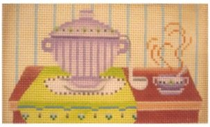JPDN179A-SOUP'S ON by JP Needlepoint