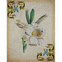 JPDN181C-WHITE LILY FLORAL by JP Needlepoint