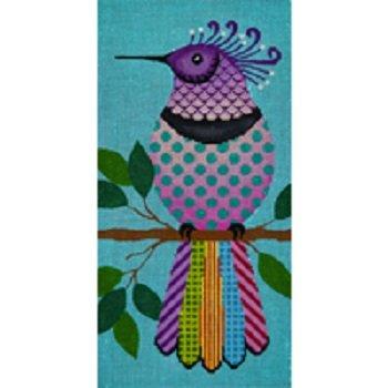 JPIP B 104COLORFUL KRA KRA BIRD PURPLE by JP Needlepoint