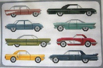 JPL063-AMERICAN CARS from the 60's by JP Needlepoint
