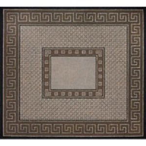JPTB088 TAUPE AND GREY GREEK KEY AND DIAMONDS TALLIS BAG OR CHALLAH COVER by JP Needlepoint