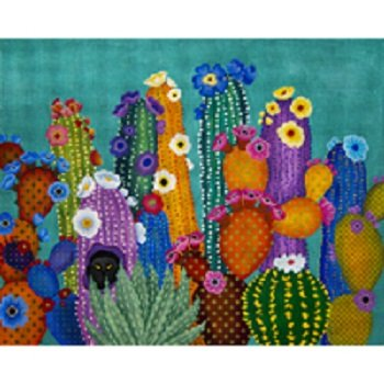 CACTUS SMACKED US by JP Needlepoint STITCH GUIDE JPIPV070sg