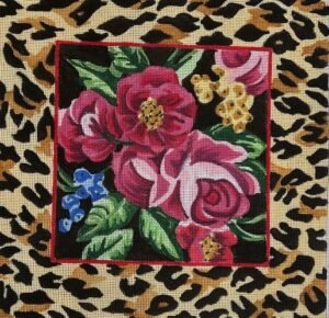 JUCF110 CHEETAH FLORAL by Judi and Co.