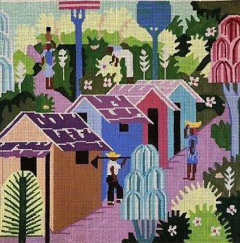 CARIBBEAN VILLAGE by Judi & Co.-JUCVI