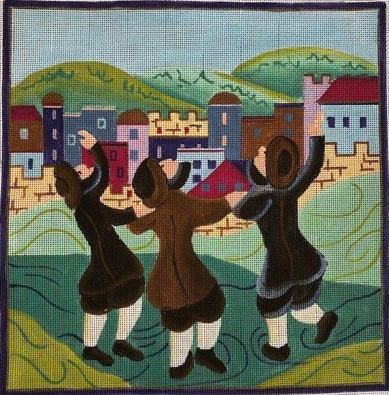 THREE MEN DANCING by Sasi SASITMD277