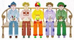 JW115-FIVE BUDDIES BY JANET WATSON