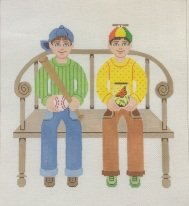 JW124-TWO BUDDIES BASEBALL AND BUTTERFLY BY JANET WATSON