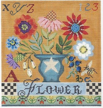 KCA 29-18 COUNTRY FLOWER SAMPLER CANVAS by Kelly Clark