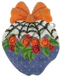 KCN1705-Webs N Roses Halloween Apple by Kelly Clark