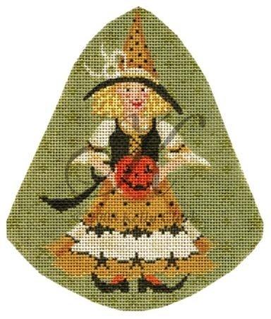 KCNKAH18-Jacquelyn Jack O' Lantern Witch on a Stick by Kelly Clark