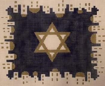KPPF351 CITY OF JERUSALEM STAR TALLIS BLUE by Katherine Parfet