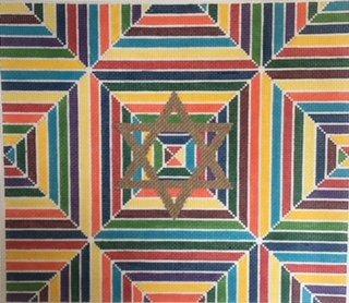 KPPF191T MULTIPLE LINES TALLIS BAG by Katherine Parfet