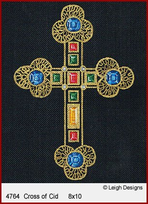 L4764-Cross of Cid Historic Cross by Leigh Designs
