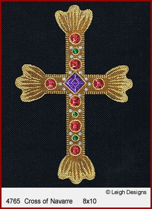 L4765-Cross of Navarre Historic Cross by Leigh Designs