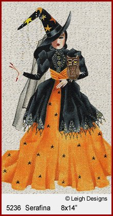 SERAFINA WITCHY WOMAN by Leigh Designs STITCH GUIDE L52346g