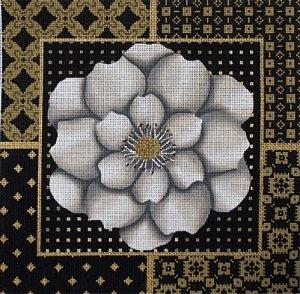 LANI1029 WHITE FLOWER COLLAGE by Lani