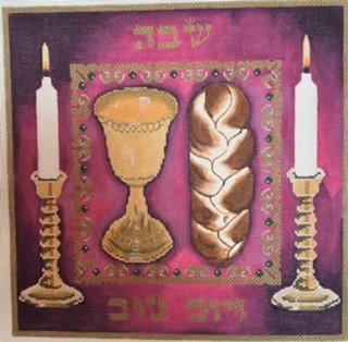CANDLES WINE CHALLAH COVER by Lani Stitch Guide - LANI401Bsg