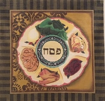 PESACH MATZOH COVER by Lani Stitch Guide - LANI402Asg