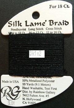BLACK 01 SILK LAME BRAID