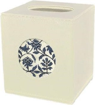 LEEBag79I BONE LEATHER TISSUE BOX by Lee's Needlearts
