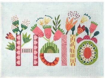 HELLO  FLOWERS by Lee's Needlearts STITCH GUIDELEEWH1356sg
