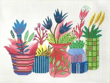 FLOWER POTS by Lee's Needlearts  Stitch Guide LEEWH1357sg