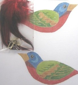 LOL300I-PAINTED BUNTING 3-D CLIP ON BIRD BY LABORS OF LOVE