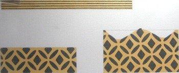 3D BLACK GOLD PURSE by Little Shoppe Canvas LSCCPB007