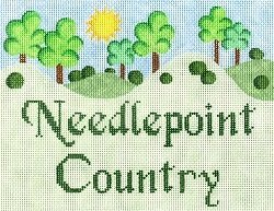 LW9228M-NEEDLEPOINT COUNTRY by Laurel Wheeler