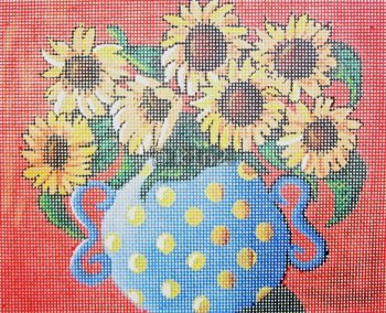 POLKA DOTS and SUNFLOWERS  by Maggie stitch guide MAG1373sg