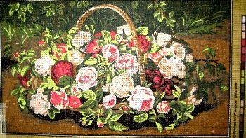 MAR1035020 Panier de Roses by Margot