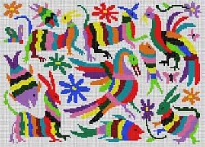 MCLP233 RAINBOW PHOENIX MOTIF by The Meredith Collection