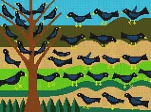 MCLP247 TREE OF BLACKBIRDS by The Meredith Collection