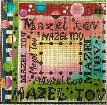 MIN2380 MAZEL TOV by Mindy Needlepoint