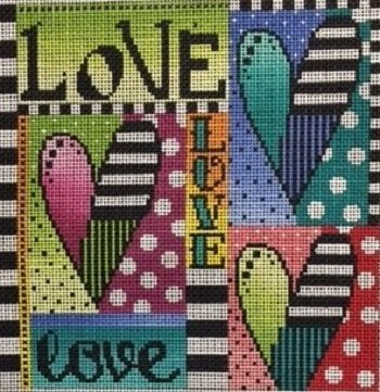 MIN2509SQ LOVE SQUARE by Mindy Needlepoint