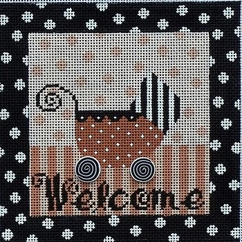 MIN30C WELCOME BUGGY by Mindy Needlepoint