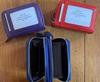 DOUBLE MINI WALLET for Needlepoint or Photo Insert