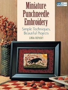 MINIATURE PUNCH NEEDLE EMBROIDERY by Linda Repasky-MiniPN