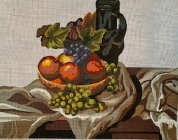 MN0653 LARGE STILL LIFE with FRUIT by MAGIC NEEDLE