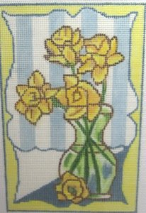 MPF422 DAFFODILS IN VASE by Melissa Prince