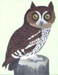 MS1411A Owl on Stump by Melissa Shirley Designs