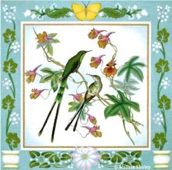 MS1441 LARGE HUMMINGBIRDS by Melissa Shirley Designs