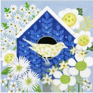 MS1784A BLUE BIRDHOUSE by Melissa Shirley Designs