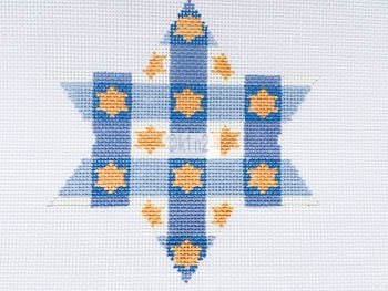MS1809D PLAID CHANUKAH STAR by Melissa Shirley Designs
