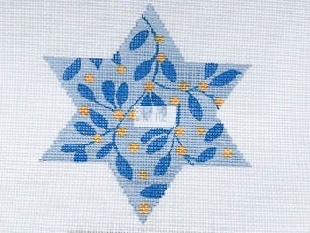 MS1809F VINE CHANUKAH STAR by Melissa Shirley Designs